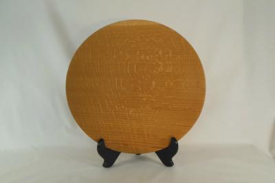 """#050       Red Oak Platter       13"""" wide by 2"""" high       $80.00"""