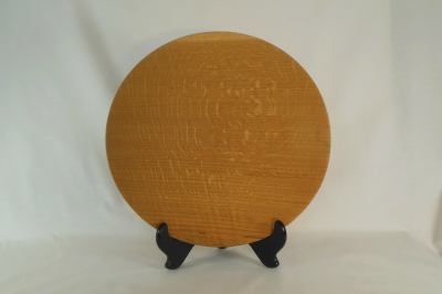 "#050       Red Oak Platter       13"" wide by 2"" high       $80.00"