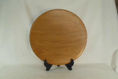 "#064      Red Oak Platter       15"" wide by 1.75"" high       $150.00"