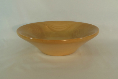 """#080      Ginkgo Bowl       10.5"""" wide by 3"""" high       $65.00"""