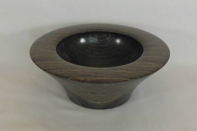 """#212       Laminated Birch Bowl with Rim       9"""" wide by 3.5"""" high       $100.00"""