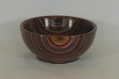 "#333       Laminated Birch Bowl Burgundy       5"" wide by 2.5"" high       $45.00"