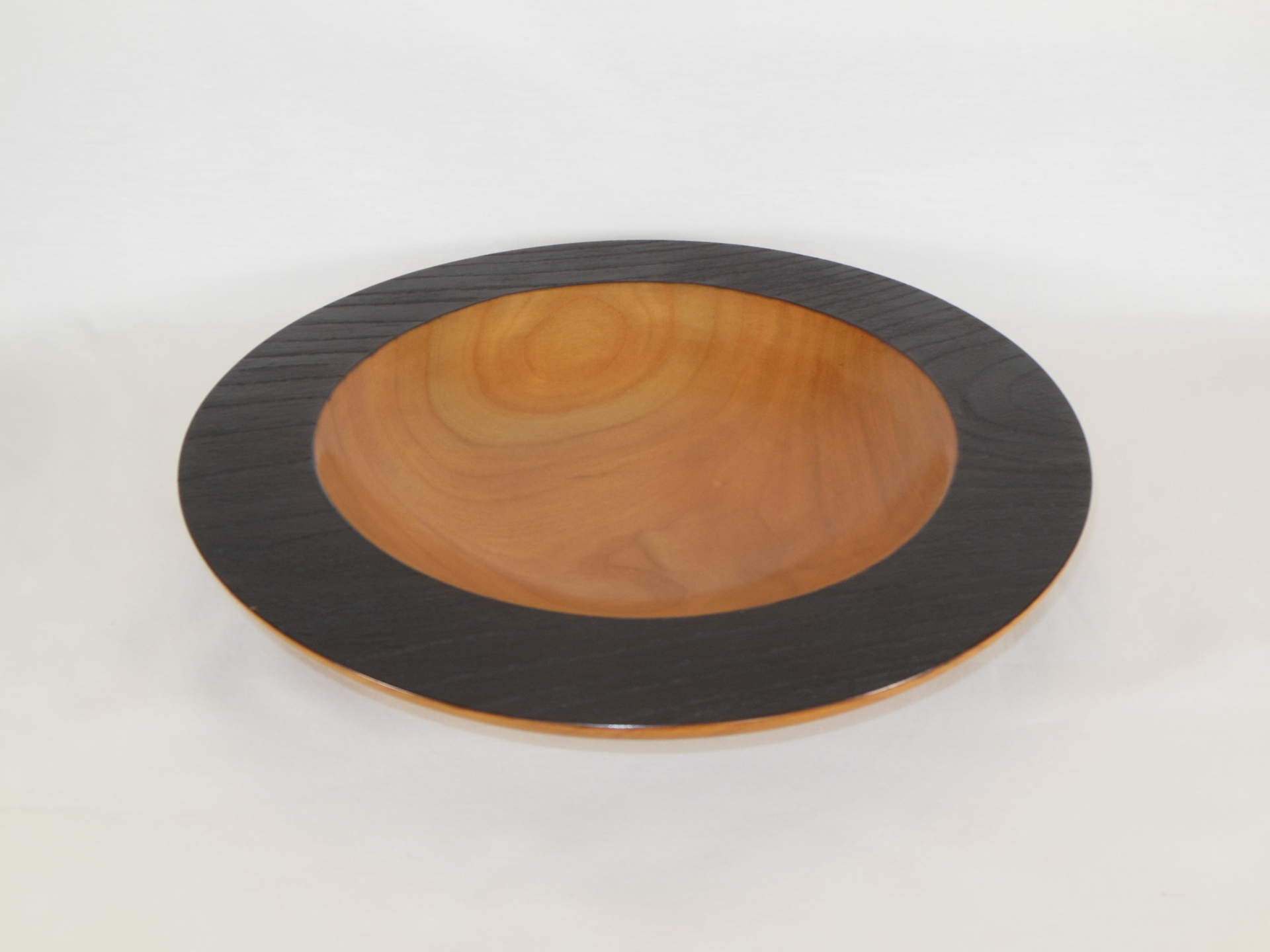 """#016       Cherry Bowl with Burnt Edge       11.5"""" wide by 1.75"""" high       $120.00"""