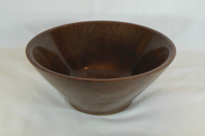 "#421      Large Walnut Bowl     10.75"" high by 5"" wide      $185.00"