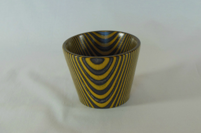 """#513       Laminated Birch Bowl Yellow       3.5"""" wide by 3"""" high       $30.00"""