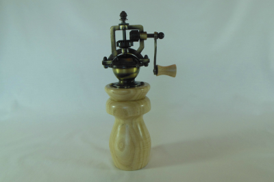 """#473       Ash Pepper Mill       2.5"""" wide by 8"""" high       $60.00"""