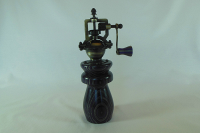 """#476       Laminated Birch Pepper Mill Purple       2.5"""" wide by 8"""" high       $60.00"""
