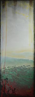 Universal Donor, 18x49, Acrylic on Canvas