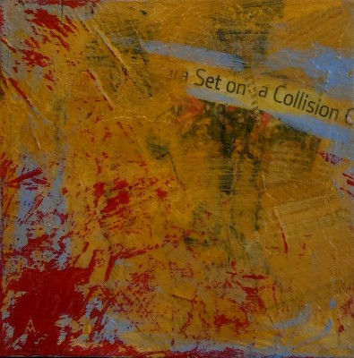 Set Course, 8x8, Mixed Media on Canvas