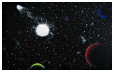 Prime Galaxy, 48x30, Oil on Canvas