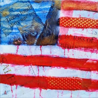 Black Friday, 8x8, Mixed Media on Canvas