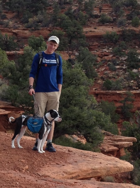 A Boy and his Dog, Roxie, in Kanab, Utah