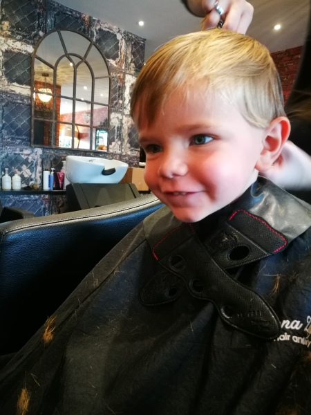 Haircuts for the boys!