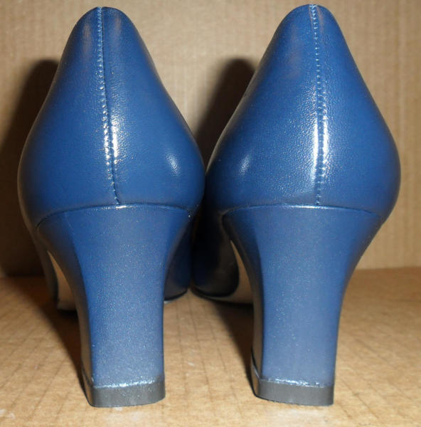 Women's Blue Heel Shoe Repair