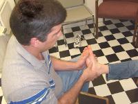 """Lilburn Shoe repairs Owner David """"Buddy"""" Leandro"""