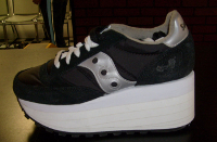 Navy and White Men's Shoe Lift, Shoe Elevation/Shoe Modification