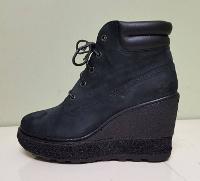 Black Ankle Boot Woman's Shoe Lift, Shoe Elevation/Shoe Modification