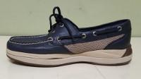 Blue and White Boat Shoe Men's Shoe Lift, Shoe Elevation/Shoe Modification