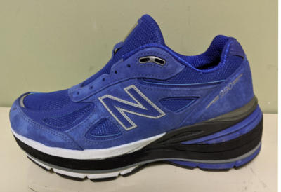Shoe lift on Blue New Balance
