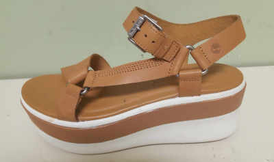 Shoe Lift on Tan Sandal