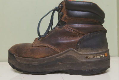 Shoe Lift on Brown Hiking Boot