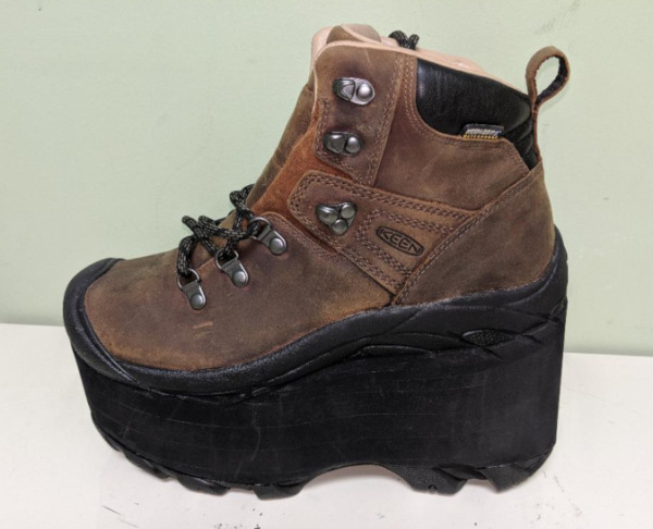 Hiking Boot Shoe build up