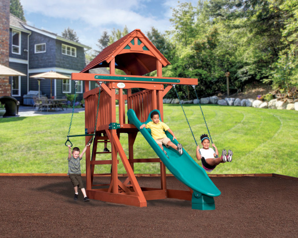 Adventure Treehouse Junior Space Saver - Wood Roof