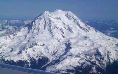 Mt Rainier overlooking Washington State