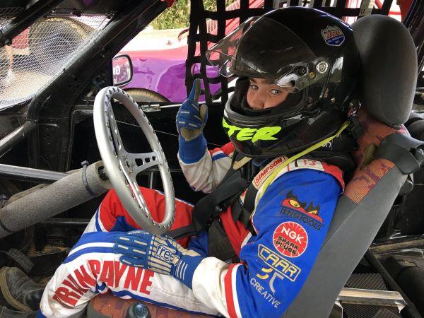 Carter's first time at Tongham Raceway