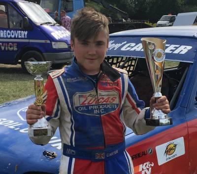 Albert Carter wins his first Car Championship - Junior Productions