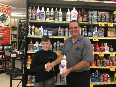 Albert Carter gives 100% for Lucas Oil - even on holiday!