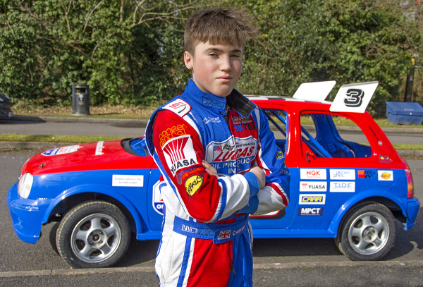 Yuasa continues sponsorship of 14-year-old rising motorsport star, Albert Carter