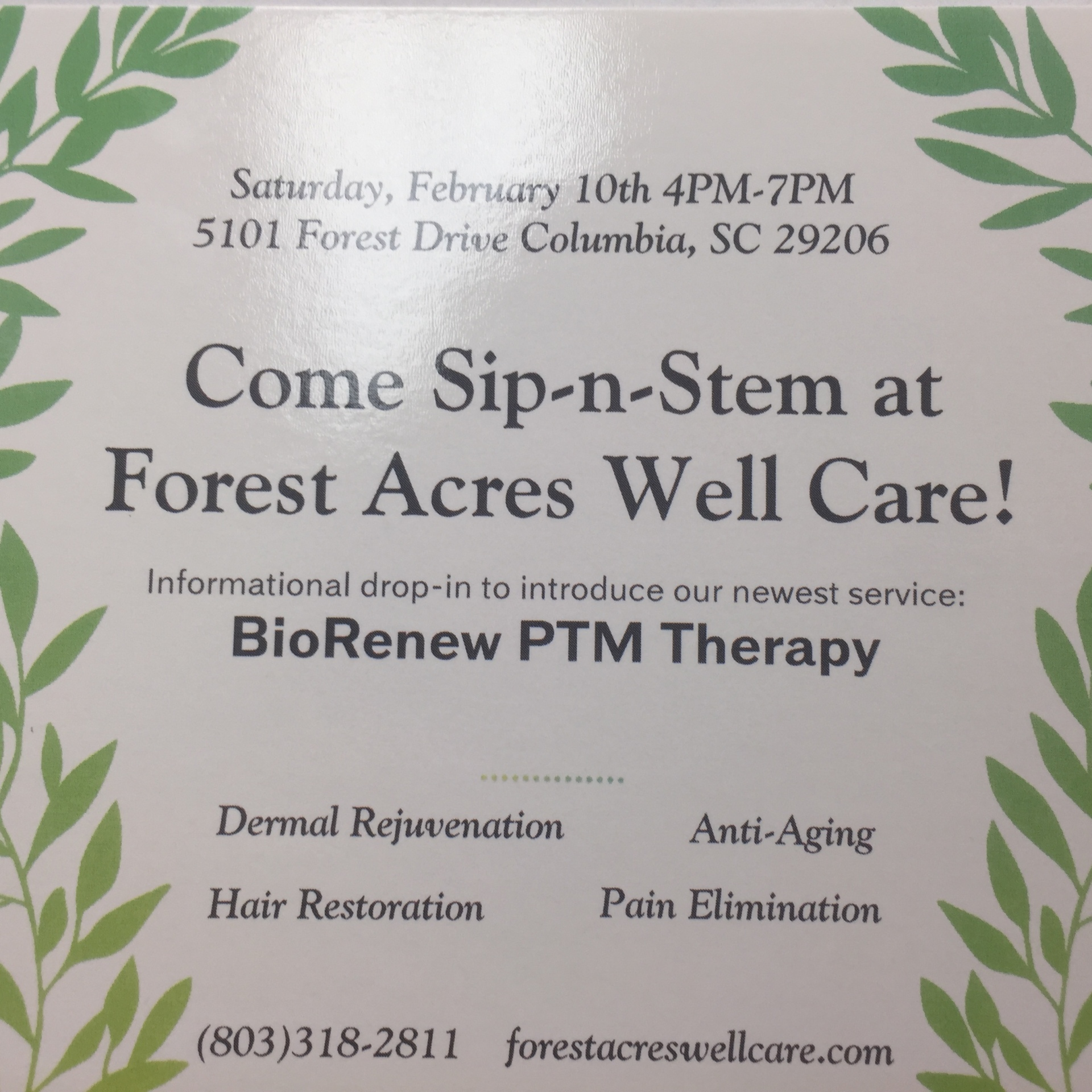 Stem Cell Therapy Informational Gathering! Drinks and Hors D'oeuvre's Served.