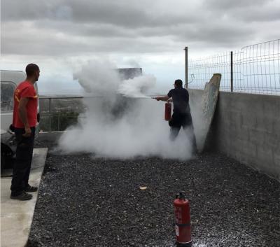 Formación contraincendios en Tenerife