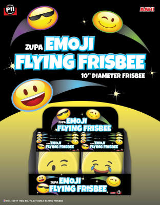 Zupa Emoji Flying Frisbee