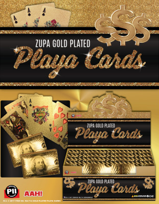 Zupa Gold Plated Playa Cards