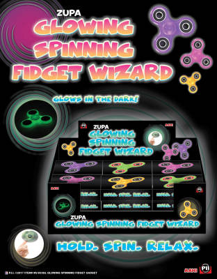 Zupa Glowing Spinning Fidget Wizard