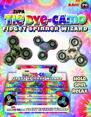 Zupa Tie Dye-Camo Fidget Spinner Wizard