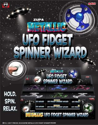 Zupa Metallic UFO Fidget Spinner Wizard