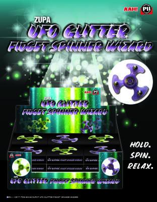 Zupa UFO Glitter Fidget Spinner Wizard