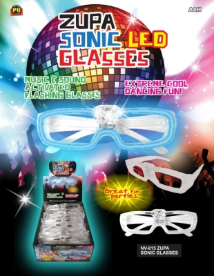Zupa LED Sound Activated Sunglasses