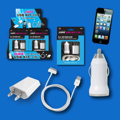 Zupa 3-in-1 USB Kit for iPhone 4/iPad