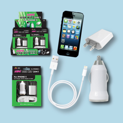 Zupa 3-in-1 USB Kit for iPhone 5/6