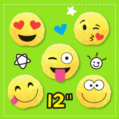 Zupa Emoji Cushion 12""