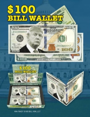 Zupa $100 Bill Wallet Donald Trump