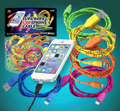 Zupa Neon Rope USB Cable iPhone 5/6