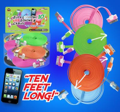 Zupa Loooong 10' USB Cable iPhone 4/iPad