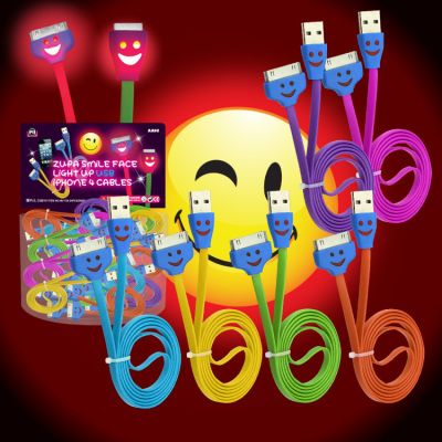 Zupa Smile Face Light Up USB Cable iPhone 4/iPad