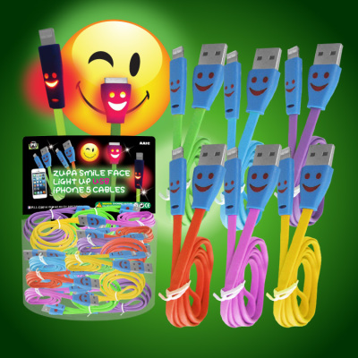 Zupa Smile Face Light Up USB Cable iPhone 5/6