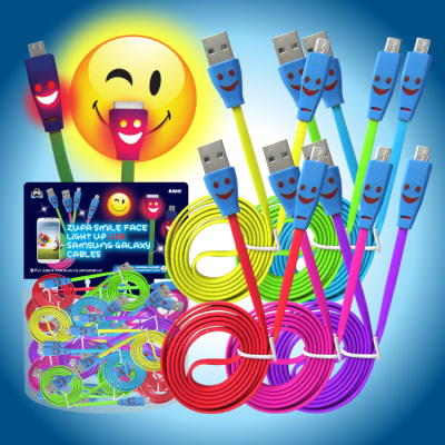 Zupa Smile Face Light Up USB Cable Galaxy Samsung